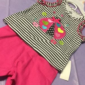 Short set 2 pc girl pink color